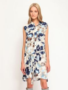 Top Secret šaty dámské košilový střih bez rukávu