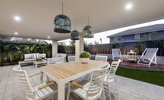 Huge undercover alfresco with space for living and dining outdoors