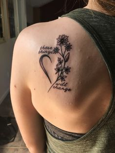 """""""You can walk away say we don't need this, but there's something in your eyes says we can beat this."""" ✨ So I got my first tattoo! It's of the eating disorder recovery symbol (made with flowers) and my favorite lyrics from the song """"Change""""...."""