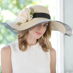 8dfcaf24 Flower floppy straw sun hat for women summer beach hats for sun protection