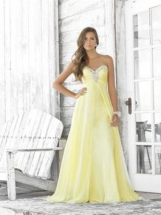 2013 Brush/ Sweep Train Chiffon Sweetheart Hourglass Prom Dresses  $98.99