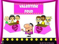Valentine's Day Feud Powerpoint Game- the perfect game for a class party!!