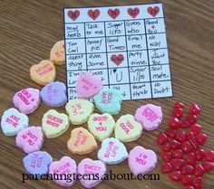 sweet tart bingo!  http://parentingteens.about.com/od/valentinesgames/ss/Valentines-Day-Bingo-Game-Activities-For-Teens.htm