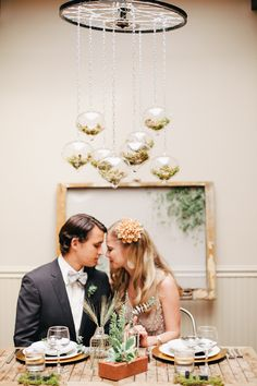 Industrial Organic Wedding Inspiration // photo by Bonnie Sen // http://ruffledblog.com/industrial-organic-wedding-inspiration