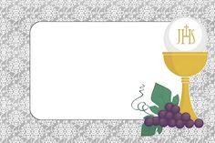 Primera Comunión: Invitaciones para Imprimir Gratis.