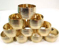 Vintage Brass Napkin Rings Gold Round Napkin by ReneesRetro #vintage #etsy #epsteam #pinterest #vcteam #ttteam #teampinterest #lovteam  THIS ITEM SOLD