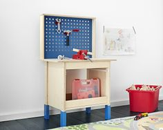 A mini work bench, part of the DUKTIG series designed to help children develop by imitating the grown-ups