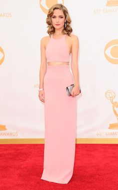 Light pink two piece gown