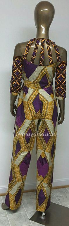 Colección AYAWAX. Mono impresión africana multi. por NanayahStudio