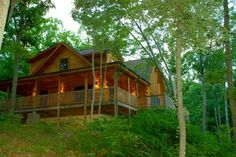 A log cabin in the woods like this.