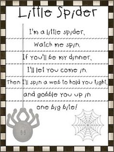 i'm a little spider poem for spider week!