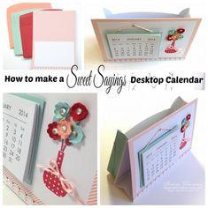Create this sweet little standing desktop calendar.