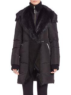 Mackage - Adora Shearling Puffer Coat #mackage #coats
