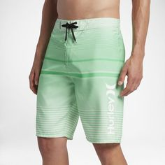 """Hurley Wailer Men's 21"""" Board Shorts Size 30 (Green) - Clearance Sale"""