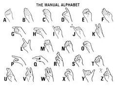 Asl Alphabet Chart  Langage Des Signes    Alphabet Charts