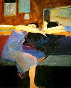 Richard Diebenkorn (American, Bay Area Figurative Movement, 1922–1993): Sleeping Woman, 1961. | I Require Art