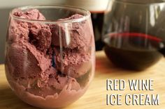Red Wine Ice Cream Recipe | Would be fantastic with a Missouri Chambourcin red wine!!