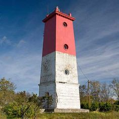 Virtsu Lighthouse (Estonian: Virtsu Tuletorn) - a lighthouse located in Virtsu, Lääne County; in Estonia. The lighthouse is used as a signal for the Suur Stra... Get more information about the Virtsu Lighthouse on Hostelman.com #attraction #Estonia #landmark #travel #destinations #tips #packing #ideas #budget #trips #lighthouse