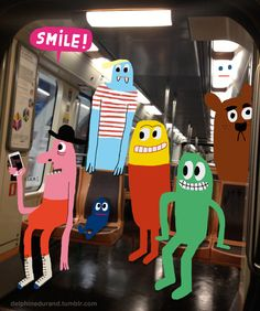 © Delphine Durand -- For Pictoplasma Character Selfies http://characterselfies.tumblr.com/