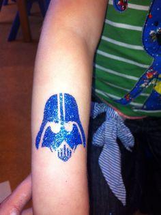 Darth Vadar glitter tattoo by Little Lionhearts :)