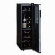 Silent 18 Bottle Dual Zone Wine Refrigerator Slimline