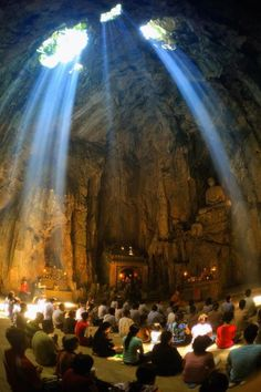 A temple inside a mountain in Southern Vietnam.