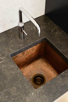 Beautiful hammered copper sink