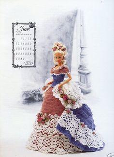 Miss June 1993 Centennial Outfit for Barbie Doll Annie's Crochet PATTERN #AnniesAttic #DollOutfit
