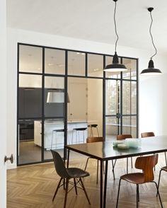 Rénovation d'un appartement haussmannien à Paris : architecte Gilles Leborgne, I.D.associés architecture intérieure, Paris