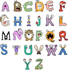 Monster Alphabet Royalty Free Stock Vector Art Illustration