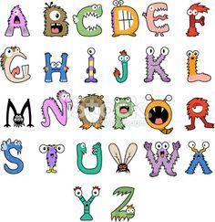 Monster Alphabet Royalty Free Stock Vector Art Illustration