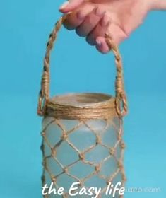 Home decoration Ideas – diy home crafts Diy Crafts Hacks, Diy Home Crafts, Diy Arts And Crafts, Diy Home Decor, Cd Crafts, Jute Crafts, Diy Decoration, Creative Crafts, Mason Jar Crafts