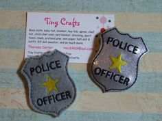 Policeman Police Pretend Badge for Boy or Girl dress up or Halloween Pretend Play Imagination Education by TinyCrafts on Etsy