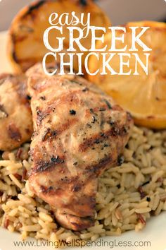 "Craving a fresh twist on the same old chicken?  This flavor-packed Easy Greek Chicken is another one of our favorite ""cheater"" freezer recipes--quick, easy, tender, delicious, and practically mess-free, plus freezer and crockpot friendly. My family gave rave reviews & yours will too!"