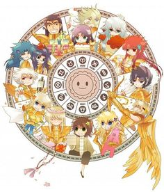 Gold Saints Chibi Zodiac