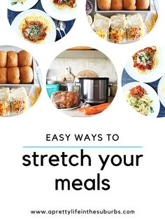 Here are some Simple Ways to Stretch Your Meals. Easy and practical tips and ideas to help save you money and prevent food waste! Freezer Cooking, Cooking Recipes, Great Recipes, Dinner Recipes, How To Make Lasagna, Healty Dinner, Easy Pasta Salad, Frittata Recipes, Food Waste