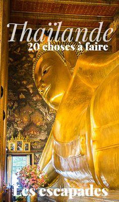 Top 20 des choses à faire en Thaïlande ! Les expériences à vivre au moins une fois lors d'un voyage en Thaïlande. #travel #thaïlande #thailand #thaifood #bangkok #chiangmaï #traveller #voyage #vacance #visit #plages #temple #lesescapades Bangkok, The Good Place, Dream Trips, Travelling, Temple, Movie Posters, Inspiration, Thailand, Stitching