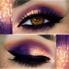 If you want to enhance your eyes and improve your attractiveness, finding the best eye make-up techniques will help. You'll want to be sure to put on make-up that makes you look even more beautiful than you already are. Orange Eye Makeup, Sexy Eye Makeup, Cute Makeup, Gorgeous Makeup, Pretty Makeup, Skin Makeup, Eyeshadow Makeup, Purple Makeup, Purple Wedding Makeup