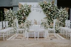 Outdoor Wedding Backdrops, Wedding Backdrop Design, Wedding Stage Design, Wedding Reception Backdrop, Outdoor Wedding Decorations, Minimalist Wedding Decor, Akad Nikah, Modern Bathrooms, Valentines Day Weddings