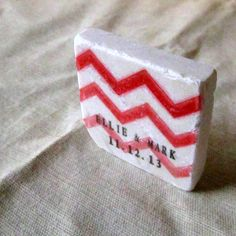 Red Chevron Wedding Favors, Save the Date Magnets, Ombre, Set of 25 on Etsy, $64.31