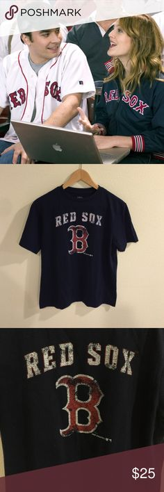 [Team Athletics] •Boston Red Sox Tee• Boston Red Sox Tee - only worn once, still in great condition! 50% Cotton / 50% Polyester. Genuine Stuff Tops Tees - Short Sleeve