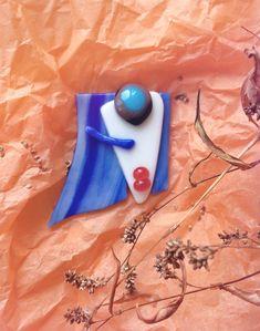 7523063d32a Samurai glass brooch, face brooch, modern brooch, fashion brooch stylish brooch  glass work handmade, Japanese style Japanese brooch fusing