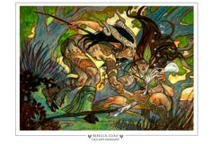 Lace with Moonglove Magic The Gathering Prints - Rebecca Guay