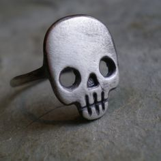 Skull Ring. $115.00, via Etsy.