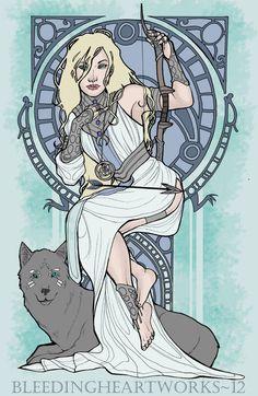 Goddess Skadi by *BleedingHeartworks on deviantART