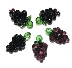 Purple Glass Grape Beads  Supplies Bead by marykerran on Etsy, $7.50