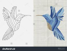 Hand Embroidery Patterns, Embroidery Applique, Coloring Pages, Cross Stitch, Felt, Bird, Sewing, Appliques, Animals