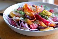 Winter salads: fennel, beet, and blood orange salad