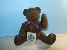 Boyds Bears Teddy Bear ~ Jesse ~ MWT Mint Dark Brown with Mulberry Ribbon