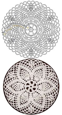Crochet Circle Pattern, Free Crochet Doily Patterns, Crochet Doily Diagram, Crochet Circles, Crochet Motifs, Crochet Squares, Thread Crochet, Crochet Dreamcatcher, Crochet Dollies
